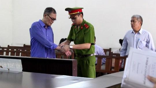 Bị cáo Huỳnh Văn Tăng tại tòa
