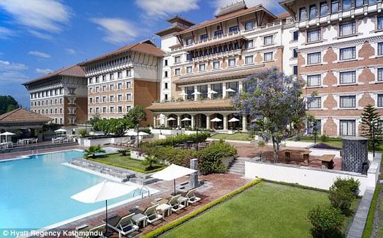 Khách sạn 5 sao Hyatt Regency ở Kathmandu... Ảnh: Hyatt Regency Kathmandu