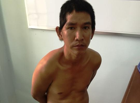 Đối tượng Nguyễn Hữu Thắng bị bắt sau khi đâm bác xe ôm cướp xe