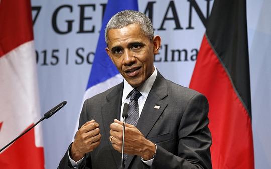 Tổng thống Barack Obama đã gọi điện cho người đồng cấp Vladimir Putin để cám ơn vai trò của Nga trong thỏa thuận hạt nhân Iran. Ảnh: Reuters