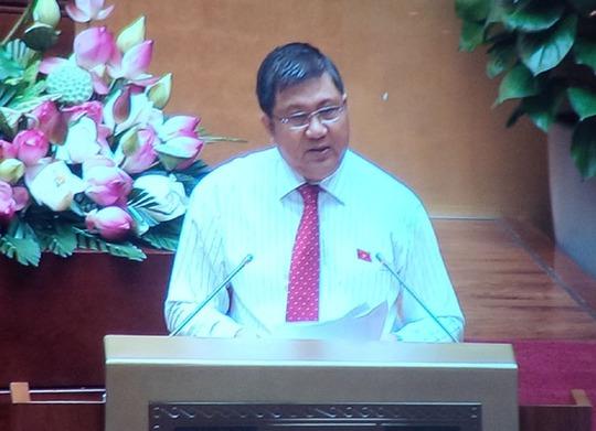 Chủ nhiệm Uỷ ban Kinh tế Nguyễn Văn Giàu trình bày báo cáo giải trình, tiếp thu ý kiến đại biểu QH thảo luận tại hội trường của Uỷ ban Thường vụ QH - Ảnh chụp qua màn hình