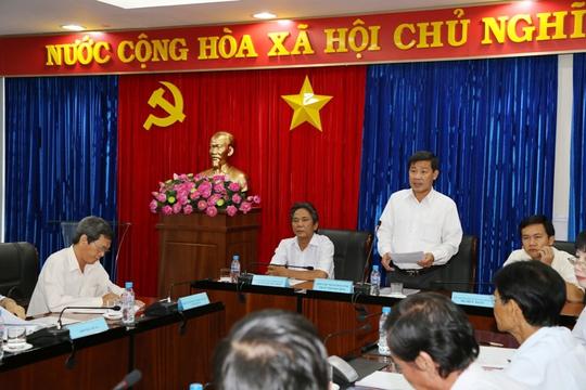Ông Trần Thanh Liêm, PCT UBND tỉnh Bình Dương chủ trì công bố thông tin sau khi thẩm tra xác minh nội dung Vĩnh Phát khiếu nại