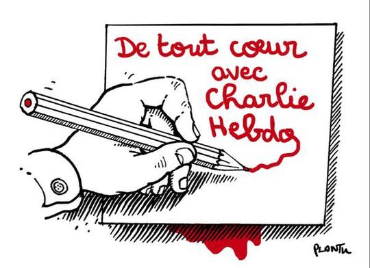 """""""Trái tim tôi ở cùng Charlie Hebdo"""""""