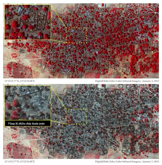 Vụ tấn công thảm khốc của Boko Haram qua ảnh vệ tinh