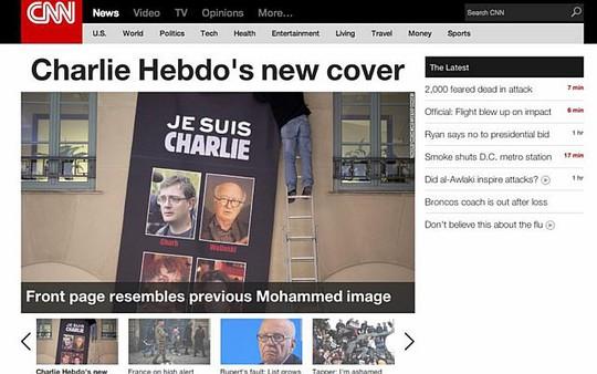 Đài CNN không đăng tải bìa báo mới của Charlie Hebdo