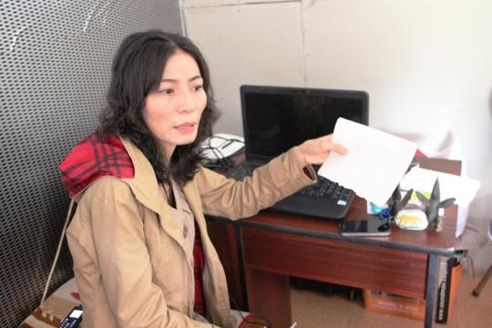 Bà Phạm Thị Ngọt khẳng định tất cả giấy tờ cung cấp hoàn toàn đúng sự thật