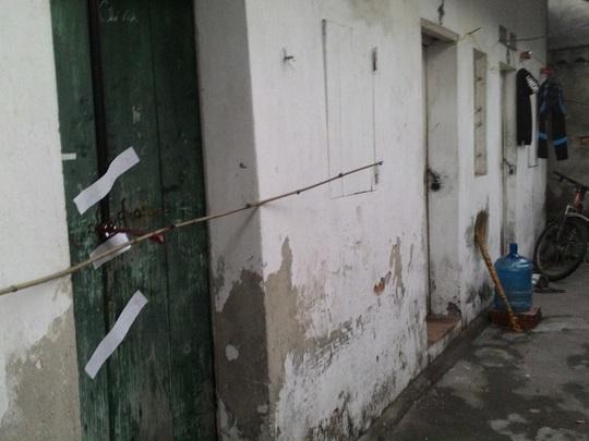 Phòng trọ, nơi phát hiện đôi nam nữ tử vong bất thường bên trong - Ảnh: CTV