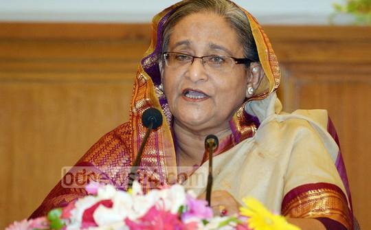 Nữ Thủ tướng Bangladesh Sheikh Hasina. Ảnh: bdnews24