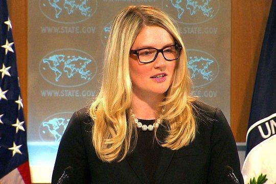 Marie Harf, phát ngôn viên Bộ Ngoại giao Mỹ, cho biết Washington sẽ đáp trả. Ảnh: Maduradas