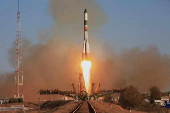 Con tàu vận tải vũ trụ Progress M-27M được phóng ngày 28-4 Ảnh: RIA NOVOSTI