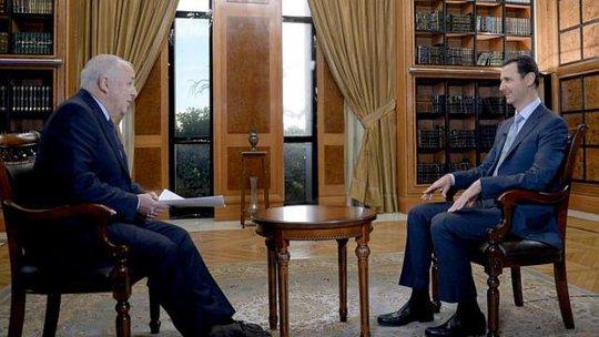 Tổng thống Syria Bashar al-Assad trong cuộc phỏng vấn với Đài BBC. Ảnh: BBC