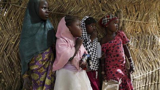 Hơn 400 phụ nữ và trẻ em tại thị trấn Damasak bị nhóm Boko Haram bắt cóc. Ành: Reuters