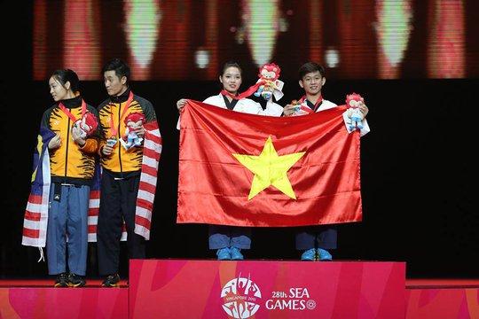 SEA Games ngày 12-6: Taekwondo mang về HCV thứ 62 cho TTVN