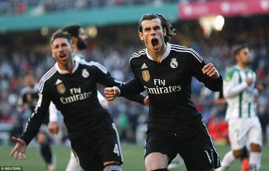 Bale ghi bàn mang về chiến thắng nghẹt thở cho Real Madrid