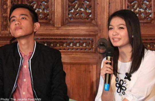 Anh Gibran Rakabuming, 27 tuổi, và vợ sắp cưới Selvi Ananda , 26 tuổi. Ảnh: Jakarta Post