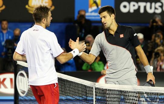 Wawrinka chỉ có thể tái ngộ Djokovic ở bán kết