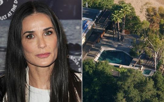 Một người chết trong hồ bơi nhà Demi Moore