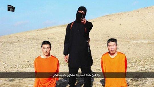 Hai con tin người Nhật trong video lúc IS đe dọa đòi tiền chuộc