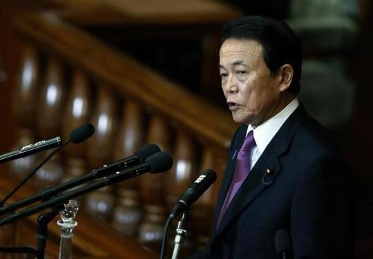 Bộ trưởng Tài chính Nhật Bản Taro Aso. Ảnh: Reuters
