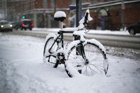 Tuyết phủ dày tại bang Massachusetts. Ảnh: Reuters