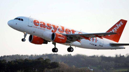 Chiếc máy bay hãng hàng không EasyJet (Anh). Ảnh: NTB Scanpix