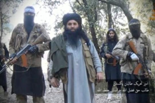 Thủ lĩnh Taliban Pakistan Maulana Fazlullah trong đoạn video được công bố ngày 5-1. Ảnh: Mirror