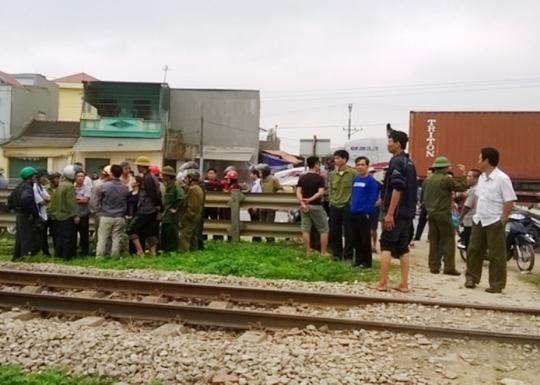 Hiện trường nơi xảy ra vụ tai nạn người thanh niên bị tàu hỏa tông chết