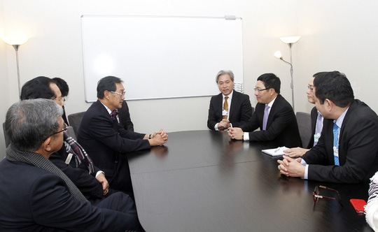 Phó Thủ tướng Phạm Bình Minh gặp Phó Thủ tướng Thái Lan Devacula Pridiyathorn