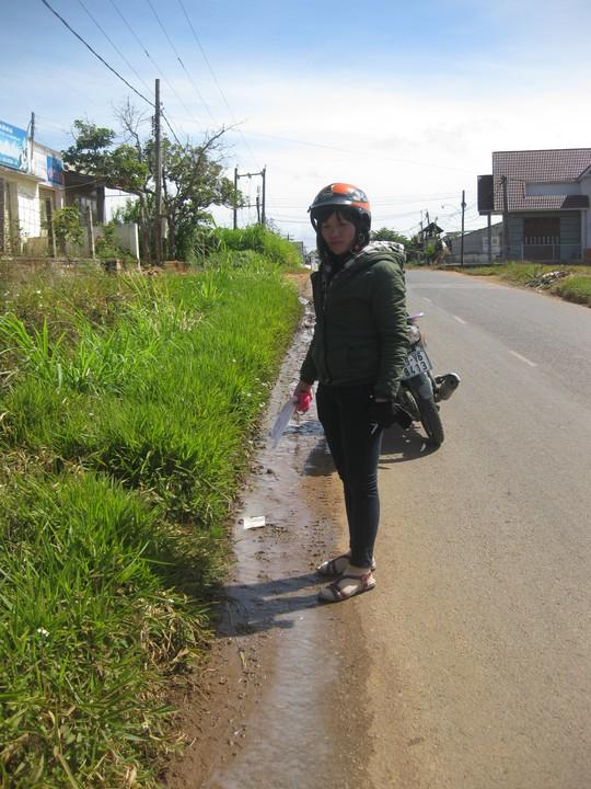 Do doanh nghiệp hạn chế thu mua, nông dân ở Lâm Đồng phải đổ bỏ sữa ra đường Ảnh: thạch thảo