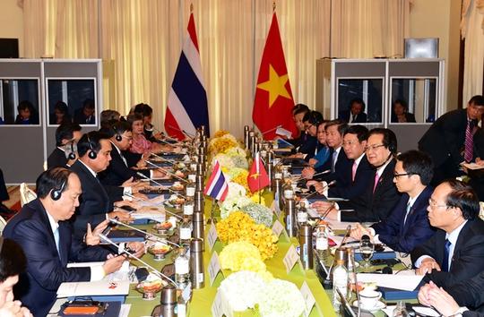 Cuộc họp nội các chung Việt Nam - Thái LanẢnh: Cổng Thông tin điện tử Chính phủ