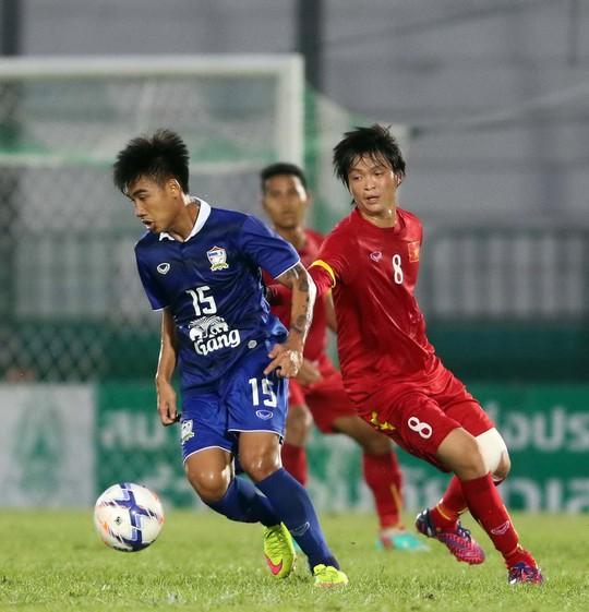 Olympic Việt Nam hoàn toàn lép vế so với Thái Lan trong trận giao hữu tối 22-3 Ảnh:  TUẤN MINH