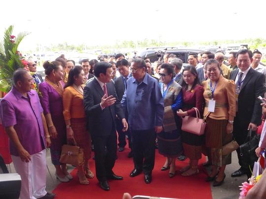 Chủ tịch nước Trương Tấn Sang và Chủ tịch nước Cộng hòa Nhân dân Lào Choummaly Sayasone  đều khẳng định sân bay Attapeu sẽ góp phần vun đắp mối quan hệ hữu nghị Việt - Lào