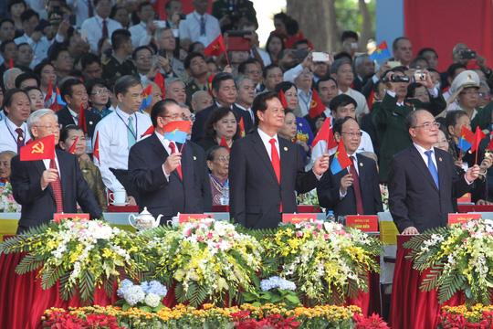 Lãnh đạo Đảng, nhà nước, Quốc hội, Chính phủ... tại lễ kỷ niệmẢnh: HOÀNG TRIỀU