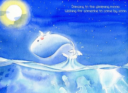 Nhảy múa dưới ánh trăng vàng lung linh  Cầu mong ai đó sẽ đến