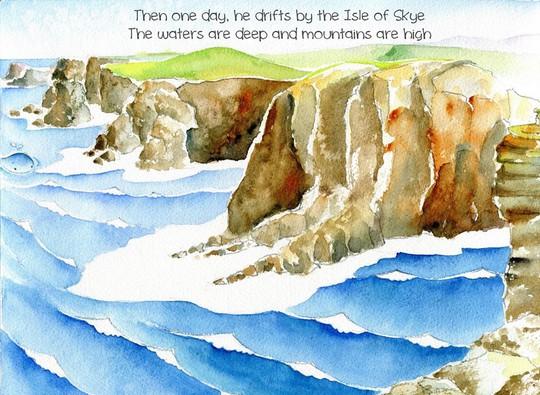 Rồi một ngày cậu bé dạt vào Hòn đảo Skye  Nước sâu thẳm bên những ngọn núi cheo leo