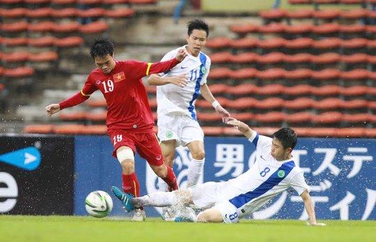 Tiền đạo Văn Toàn vẫn chưa có bàn thắng cho mình tại giải đấu này