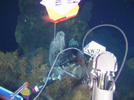 Tàu Giao Long thu thập mẫu thử ở Đại Tây Dương. Ảnh: Tân Hoa Xã