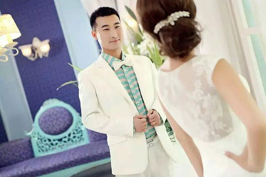 Ảnh cưới của anh Ngân Yến Vinh. Ảnh: China Daily