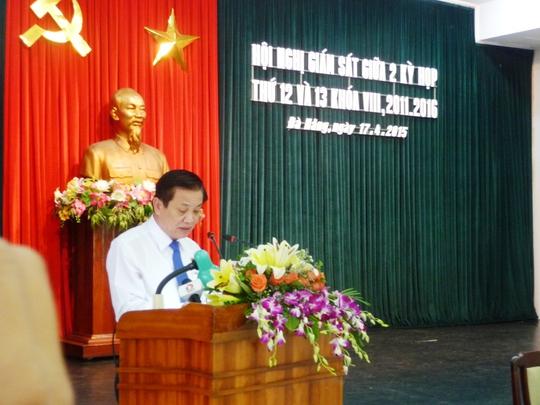 Bí thư Trần Thọ phát biểu tại phiên họp