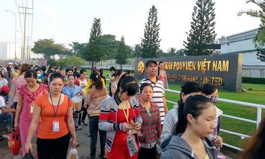 Công nhân Công ty Pou Yuen đã trở làm việc sáng 2-4