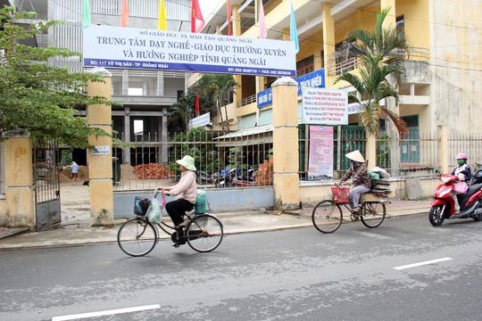 Trung tâm dạy nghề, giáo dục từ xa và hướng nghiệp tỉnh Quảng Ngãi sai phạm hơn 2 tỉ đồng. Ảnh: Tử Trực