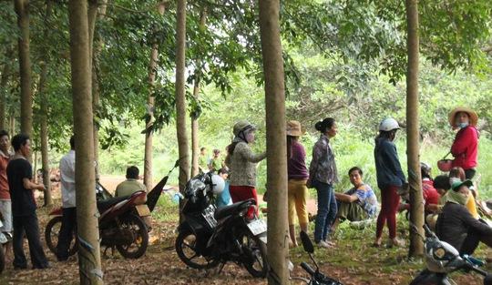 Hiện trường nơi phát hiện thi thể chị Trần Thị Ngọc Oanh vào chiều 10-7