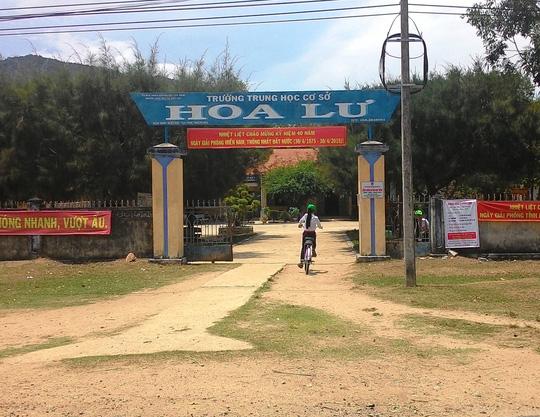 Trưởng THCS Hoa Lư, huyện Vạn Ninh