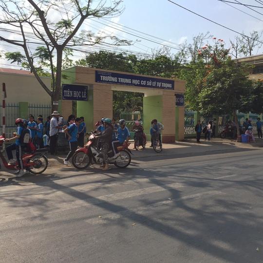 Trường THCS Lý Tự Trọng (TP Trà Vinh), nơi xảy ra vụ nữ sinh bị bạn đánh hội đồng gây xôn xao dư luận trong thời gian vừa qua.