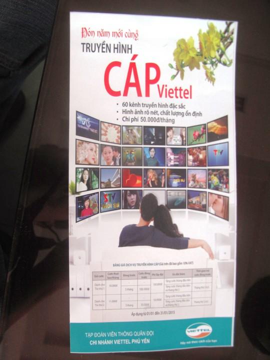 Viettel đang rầm rộ quảng bá, triển khai dịch vụ truyền hình cáp trong khi chưa thực hiện đủ yêu cầu theo quy định