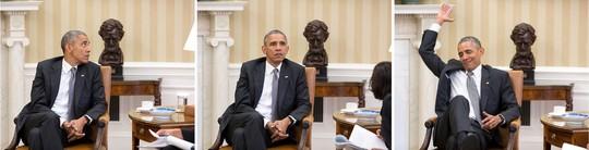 Phản ứng của ông Obama khi nghe tin Tòa án Tối cao ủng hộ Obamacare. Ảnh: Nhà Trắng