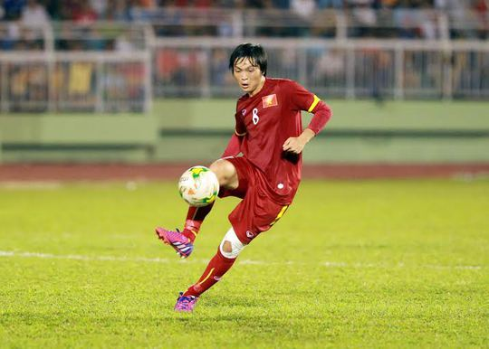 Tiền vệ Tuấn Anh, một trong những trụ cột của Olympic Việt Nam