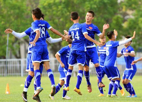 U23 tâp luyện ngày 7-5 chuẩn bị cho trận giao hữu với Hàn Quốc