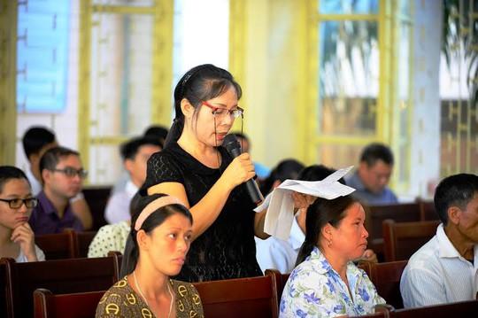Bà Nguyễn Thị Thu Hà trình bày trước tòa