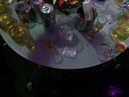 Nhiều ma túy ở khu vực bàn VIP